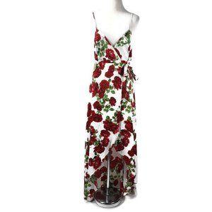 Show Me Your Mumu Mariah Wrap Maxi Dress Rose S
